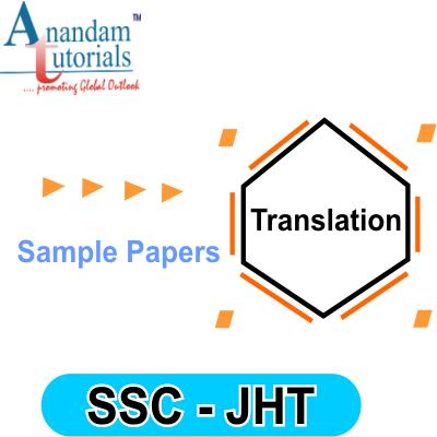 sample paper of ssc jht translation