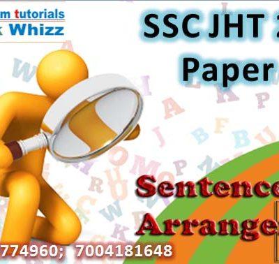 Sentence Arrangement   Quiz 4