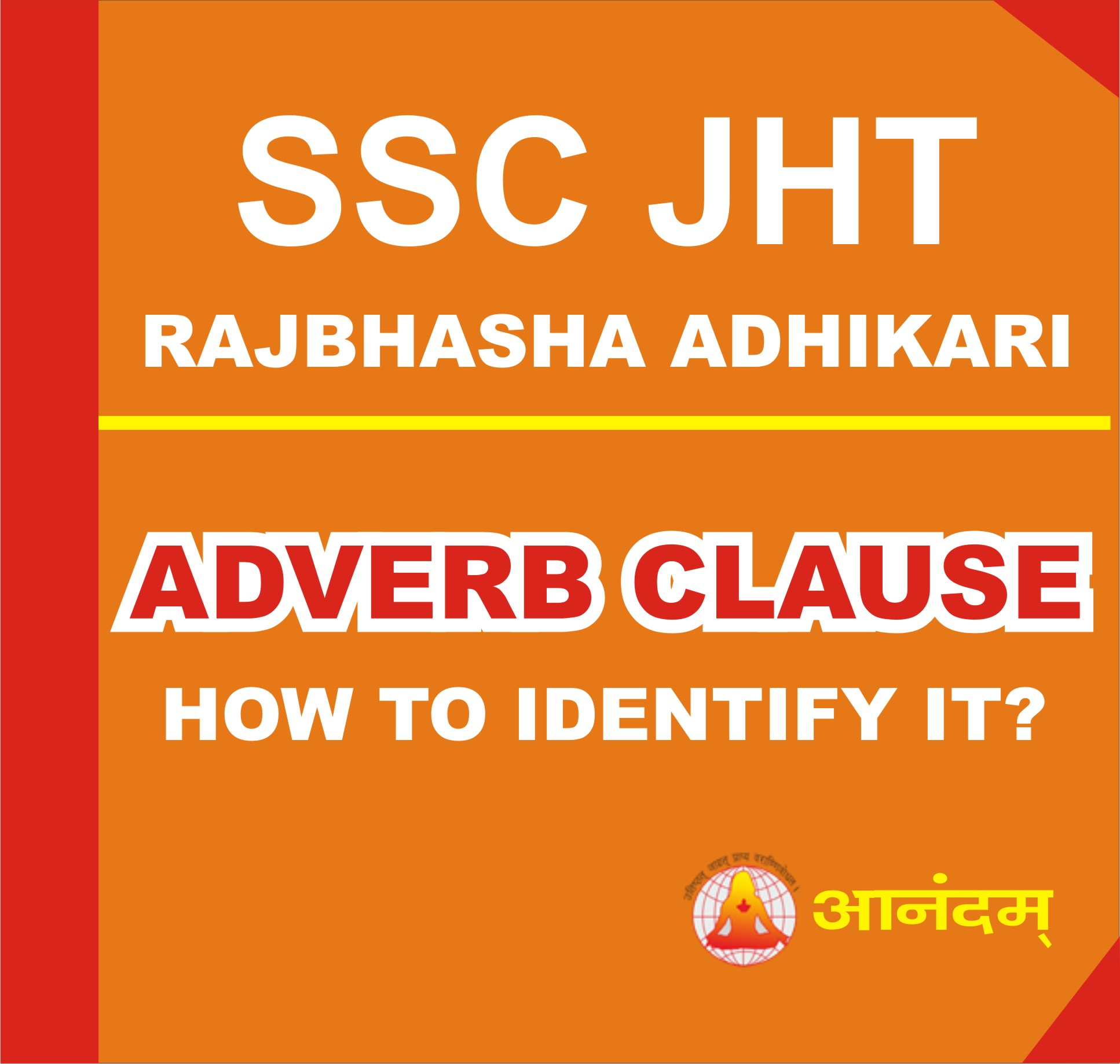 ADVERB CLAUSE FOR JTET CTET UPSC